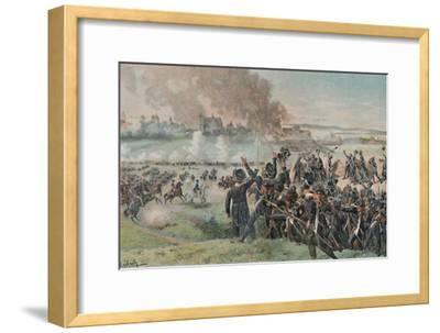 'Reappearance of Napoleon on the Field Before Ratisbon', 1809, (1896)-Unknown-Framed Giclee Print
