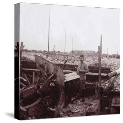 Destruction, Carency, northern France, c1914-c1918-Unknown-Stretched Canvas Print