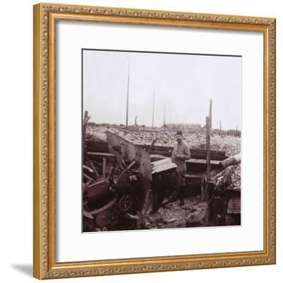 Destruction, Carency, northern France, c1914-c1918-Unknown-Framed Photographic Print