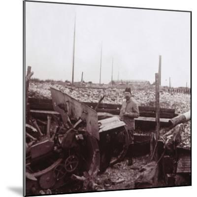 Destruction, Carency, northern France, c1914-c1918-Unknown-Mounted Photographic Print