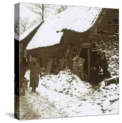 Veterinary station for horses, Calonne, northern France, c1914-c1918-Unknown-Stretched Canvas Print