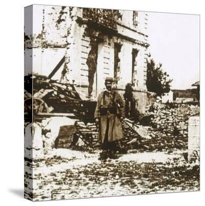 Town Hall at Ablain-Saint-Nazaire, Northern France, c1914-c1918-Unknown-Stretched Canvas Print