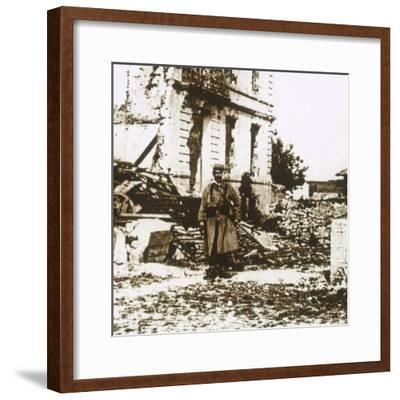 Town Hall at Ablain-Saint-Nazaire, Northern France, c1914-c1918-Unknown-Framed Photographic Print