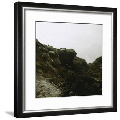 German trench, Combles, Northern France, c1914-c1918-Unknown-Framed Photographic Print