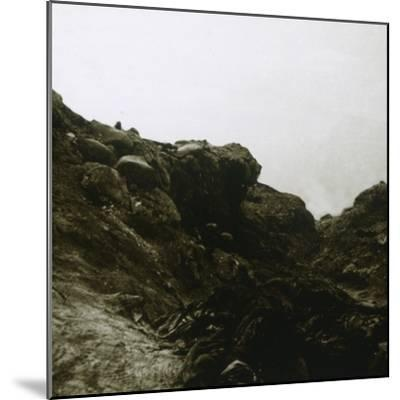 German trench, Combles, Northern France, c1914-c1918-Unknown-Mounted Photographic Print