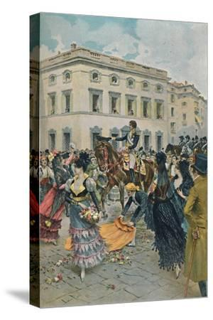'The Entry of Ferdinand into Madrid', 23 March 1808, (1896)-Unknown-Stretched Canvas Print