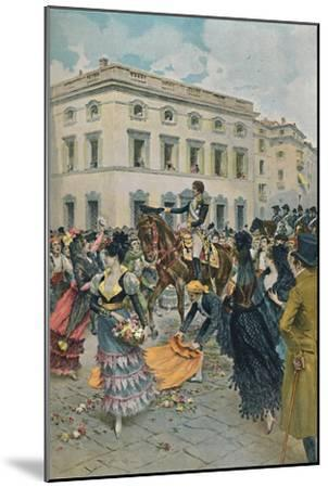 'The Entry of Ferdinand into Madrid', 23 March 1808, (1896)-Unknown-Mounted Giclee Print