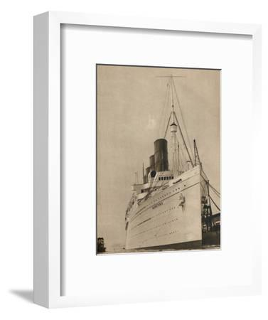 'Former Queen of the Ocean, R,M.S. Mauretania of the Cunard White Star Line', 1936-Unknown-Framed Photographic Print