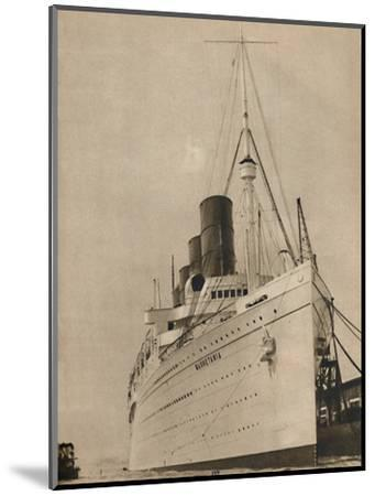'Former Queen of the Ocean, R,M.S. Mauretania of the Cunard White Star Line', 1936-Unknown-Mounted Photographic Print