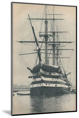 'HMS Victory before she was removed to dry dock in 1922', 1936-Unknown-Mounted Photographic Print