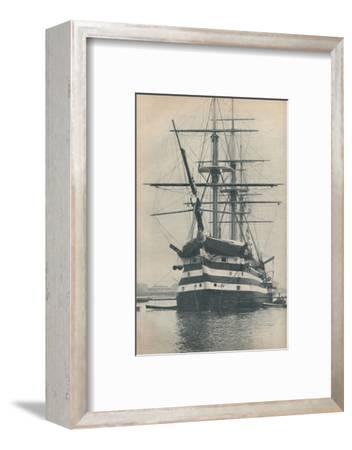 'HMS Victory before she was removed to dry dock in 1922', 1936-Unknown-Framed Photographic Print