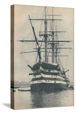 'HMS Victory before she was removed to dry dock in 1922', 1936-Unknown-Stretched Canvas Print