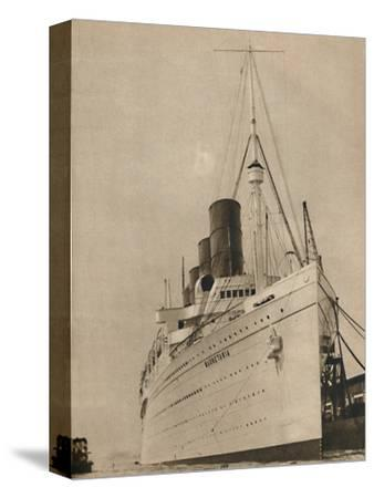 'Former Queen of the Ocean, R,M.S. Mauretania of the Cunard White Star Line', 1936-Unknown-Stretched Canvas Print