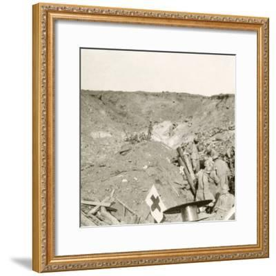 Front line, Sailly-Saillisel, Northern France, c1914-c1918-Unknown-Framed Photographic Print