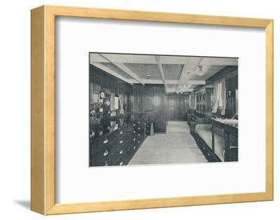 'Control Centre of the Empress of Britain, chart-room and wheel-house', 1936-Unknown-Framed Photographic Print