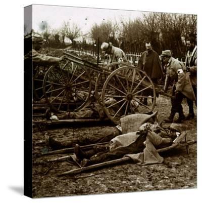 Bodies, Villers-au-Bois, northern France, c1914-c1918-Unknown-Stretched Canvas Print