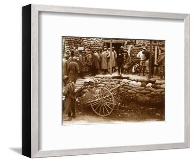 First-aid post, Ablain-Saint-Nazaire, Northern France, c1914-c1918-Unknown-Framed Photographic Print