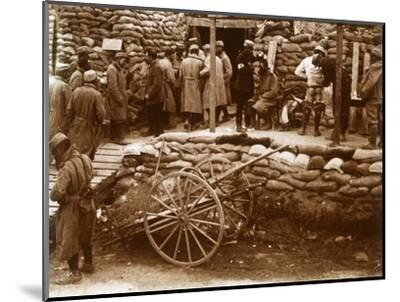 First-aid post, Ablain-Saint-Nazaire, Northern France, c1914-c1918-Unknown-Mounted Photographic Print