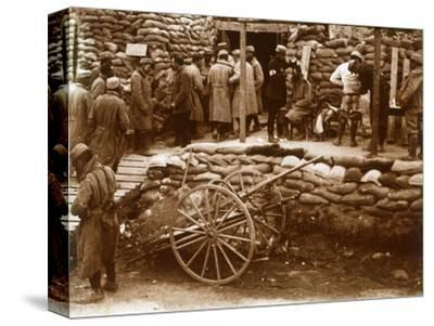 First-aid post, Ablain-Saint-Nazaire, Northern France, c1914-c1918-Unknown-Stretched Canvas Print