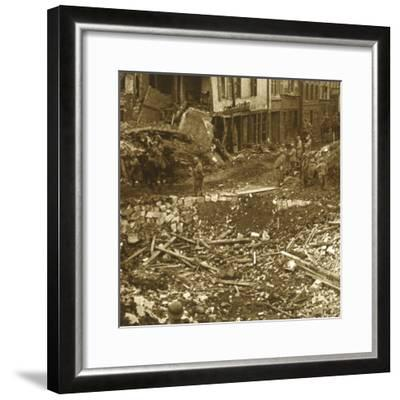The taking of Ham, Northern France, 1917-Unknown-Framed Photographic Print