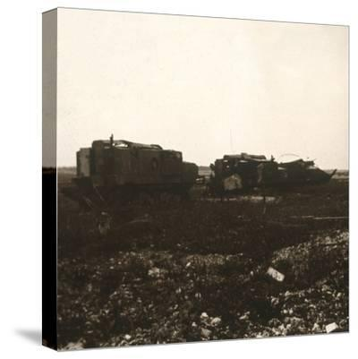 Tanks, Juvincourt, northern France, c1914-c1918-Unknown-Stretched Canvas Print