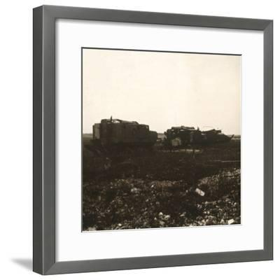 Tanks, Juvincourt, northern France, c1914-c1918-Unknown-Framed Photographic Print