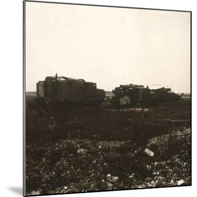 Tanks, Juvincourt, northern France, c1914-c1918-Unknown-Mounted Photographic Print