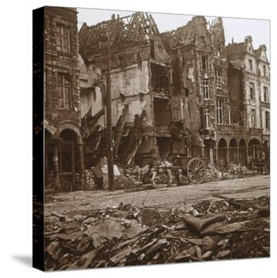 La Petite Place, Arras, northern France, c1914-c1918-Unknown-Stretched Canvas Print