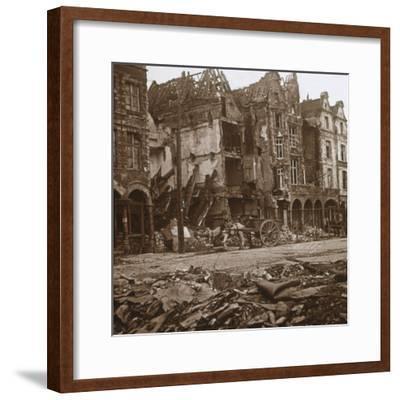 La Petite Place, Arras, northern France, c1914-c1918-Unknown-Framed Photographic Print