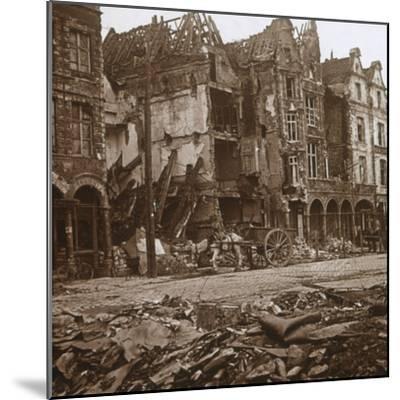 La Petite Place, Arras, northern France, c1914-c1918-Unknown-Mounted Photographic Print