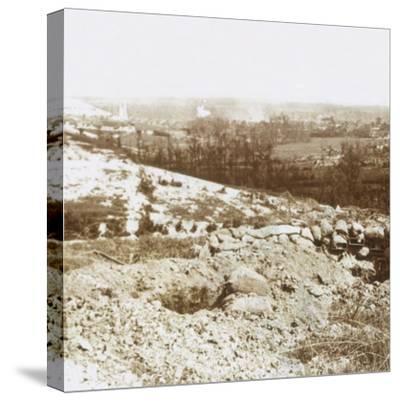 Bombardment, Ablain-Saint-Nazaire, Northern France, c1914-c1918-Unknown-Stretched Canvas Print