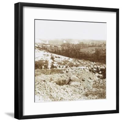 Bombardment, Ablain-Saint-Nazaire, Northern France, c1914-c1918-Unknown-Framed Photographic Print