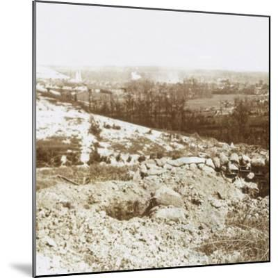 Bombardment, Ablain-Saint-Nazaire, Northern France, c1914-c1918-Unknown-Mounted Photographic Print