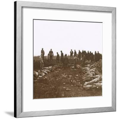 After the attack, Dompierre, Northern France, c1914-c1918-Unknown-Framed Photographic Print