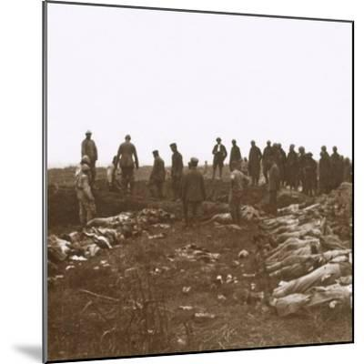 After the attack, Dompierre, Northern France, c1914-c1918-Unknown-Mounted Photographic Print