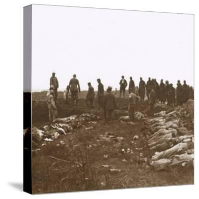 After the attack, Dompierre, Northern France, c1914-c1918-Unknown-Stretched Canvas Print