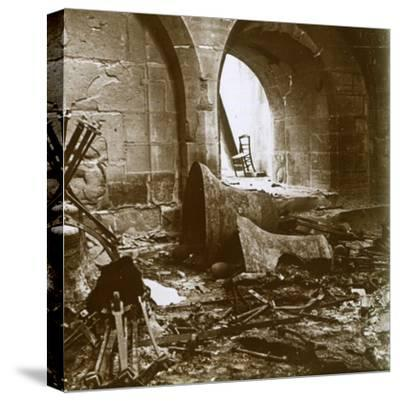 Destroyed church, Marne, northern France, c1914-Unknown-Stretched Canvas Print