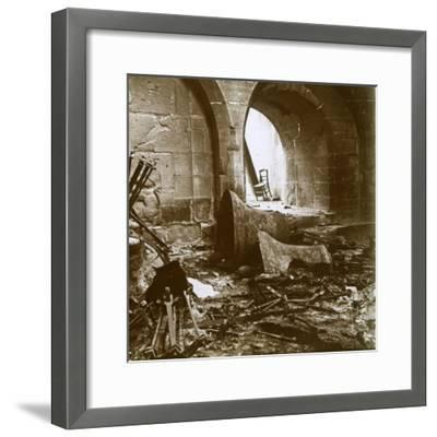 Destroyed church, Marne, northern France, c1914-Unknown-Framed Photographic Print