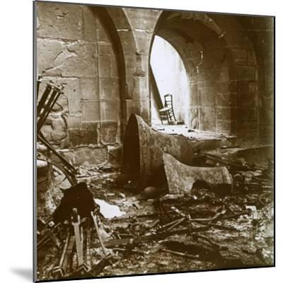 Destroyed church, Marne, northern France, c1914-Unknown-Mounted Photographic Print