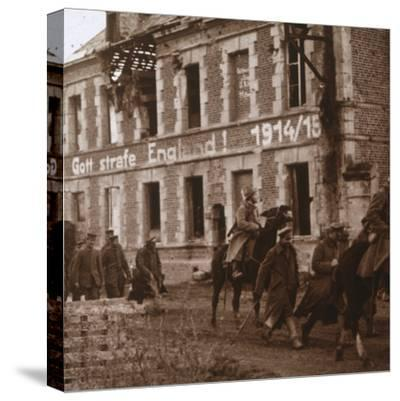 'May God punish England', Bucy-le-Long, northern France, c1914-c1918-Unknown-Stretched Canvas Print