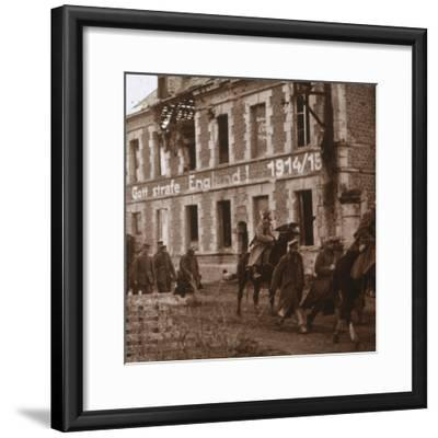 'May God punish England', Bucy-le-Long, northern France, c1914-c1918-Unknown-Framed Photographic Print