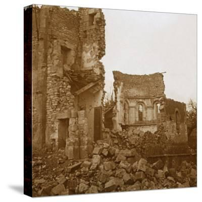 Ruined church, Trésauvaux, northern France, c1914-c1918-Unknown-Stretched Canvas Print