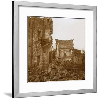 Ruined church, Trésauvaux, northern France, c1914-c1918-Unknown-Framed Photographic Print