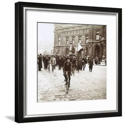 Mobilisation of soldiers from Alsace-Lorraine, c1914-c1918-Unknown-Framed Photographic Print