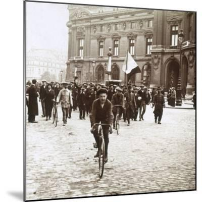 Mobilisation of soldiers from Alsace-Lorraine, c1914-c1918-Unknown-Mounted Photographic Print