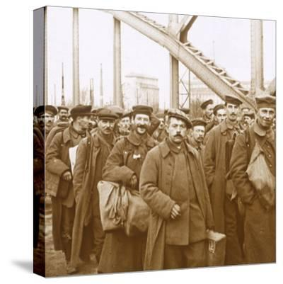 Return of soldiers from Alsace-Lorraine, c1914-c1918-Unknown-Stretched Canvas Print