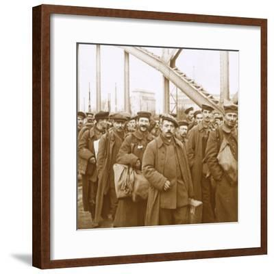 Return of soldiers from Alsace-Lorraine, c1914-c1918-Unknown-Framed Photographic Print