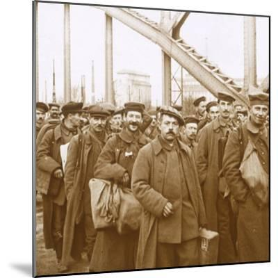 Return of soldiers from Alsace-Lorraine, c1914-c1918-Unknown-Mounted Photographic Print