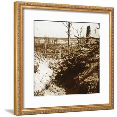 Plateau de Craonne, northern France, c1914-c1918-Unknown-Framed Photographic Print