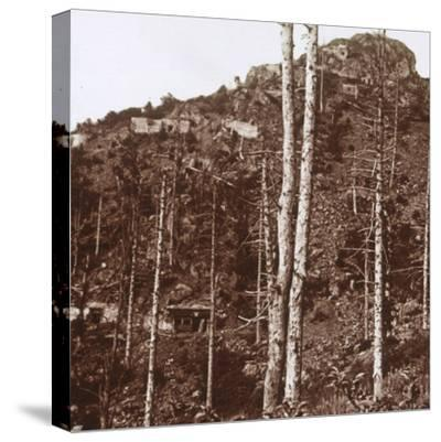 German lines, c1914-c1918-Unknown-Stretched Canvas Print